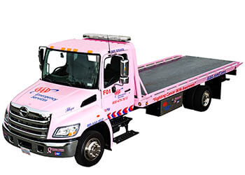 Making Strides Against Breast Cancer truck